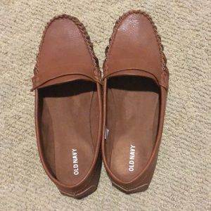 Caramel colored moccasins
